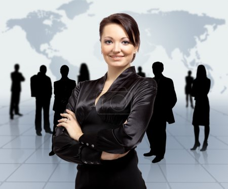 Photo for Business woman and her team - Royalty Free Image