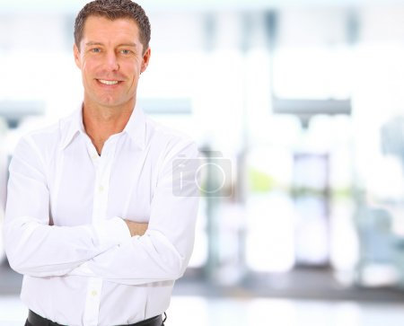Photo for Smiling middle aged business man - Royalty Free Image