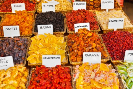 Photo for Dried fruits - food background - Royalty Free Image