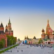 Red square, Moscow (Russia) at sunset...