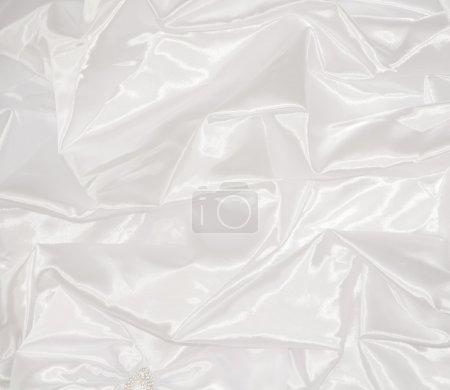 Photo pour Robe de mariée blanche la texture - image libre de droit