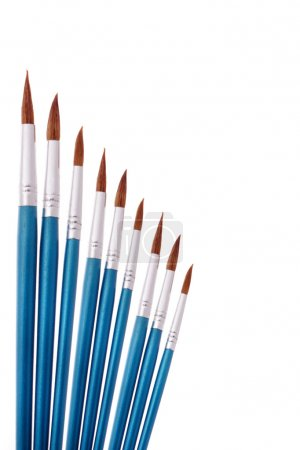 Blue paintbrushes