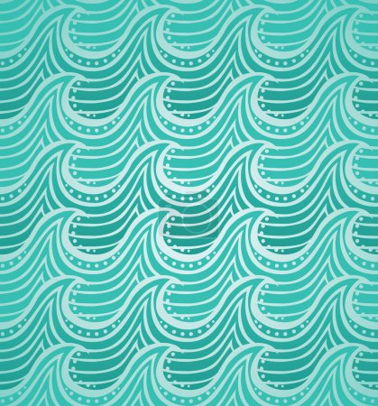 Illustration for Water seamless pattern - vector illustration - Royalty Free Image