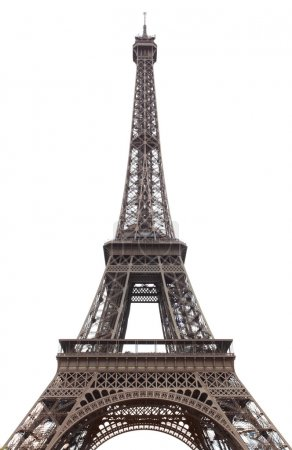 Photo for Eiffel tower isolated over the white background - Royalty Free Image