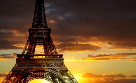 Photo for Eiffel tower at sundown, Paris, France - Royalty Free Image