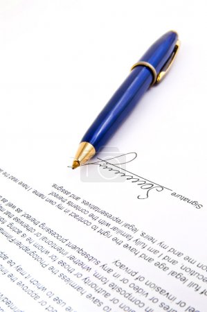 Signature and Close-up of a fountain pen
