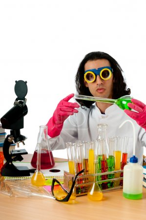 Photo for Student working in the chemical lab - Royalty Free Image