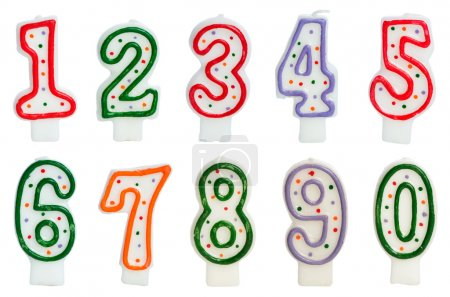 Photo for Birthday candles isolated on the white - Royalty Free Image