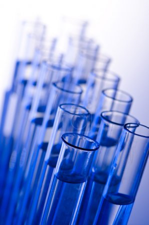 Photo for Chemical lab with glass tubing - Royalty Free Image