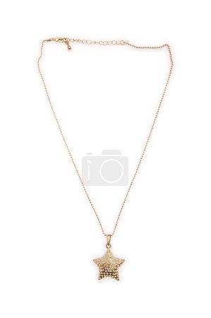 Elegant necklace isolated on the white background