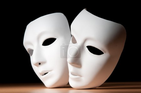 Masks with theatre concept...