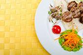 Maso kuchyně - kebab v desce