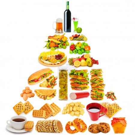 Photo for Food pyramid with lots of items - Royalty Free Image