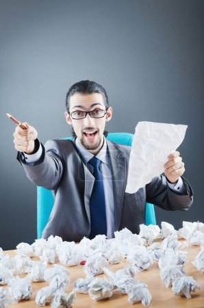 Photo for Businessman throwing paper away - Royalty Free Image