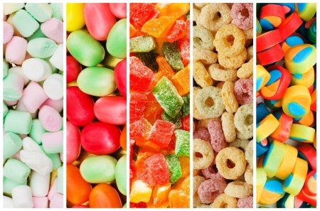 Collage of various sweets