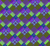 Beautiful purple and green diagonal plaid fabric Vector illustration