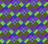 Beautiful purple and green diagonal plaid fabric Vector illustration