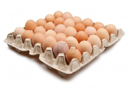 Photo for Many brown eggs isolated on white - Royalty Free Image