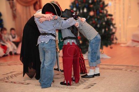 Children on a New Year's masquerade in kindergarten