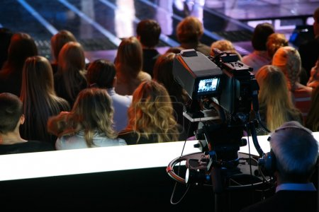 Cameraman on tv show