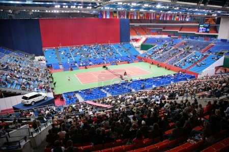 Sports tennis arena with public