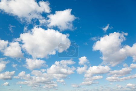 Photo for White, fluffy clouds in blue sky. Background from clouds. - Royalty Free Image