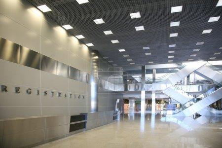 Registration hall of shopping center
