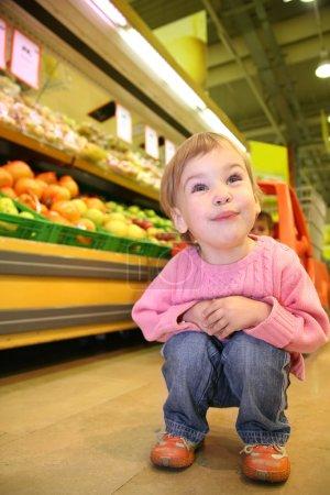 Child in the supermarket