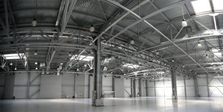 Hangar warehouse panorama