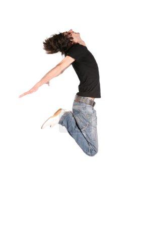 Jumping boy in black 3