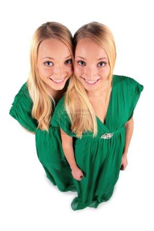 Photo pour Twin filles vue de haut - image libre de droit