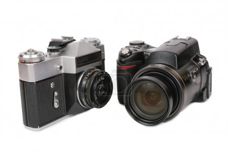 Modern and oblosete cameras