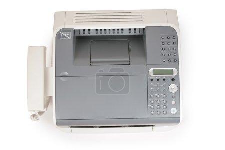 Photo pour Fax et téléphone du haut sur blanc - image libre de droit