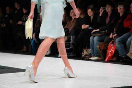 Fashion model on podium