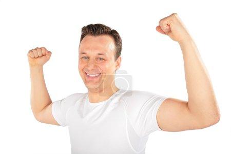 Man shows musculature
