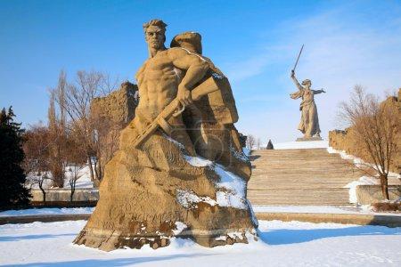 Denkmal für russische Soldaten in Wolgograd