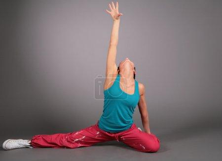 Woman dances
