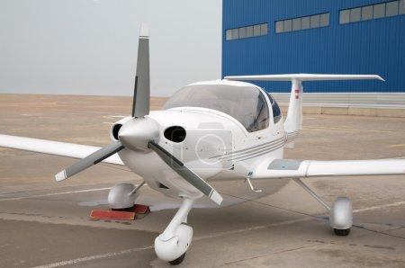 Propeller aircraft at airport