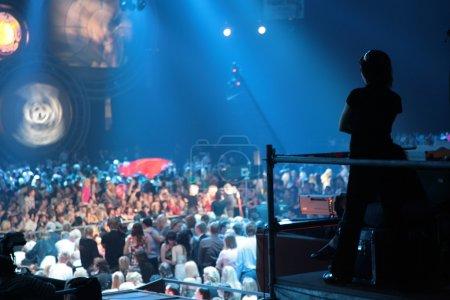 Silhouette in nightclub