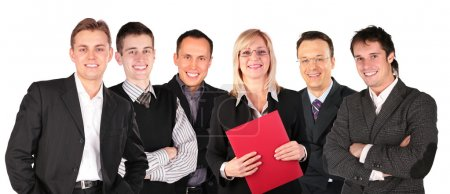 Smiling faces business group