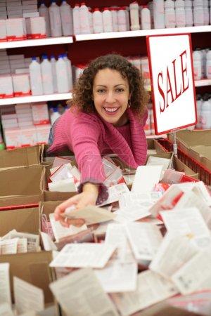 Photo pour Client heureux en vente - image libre de droit