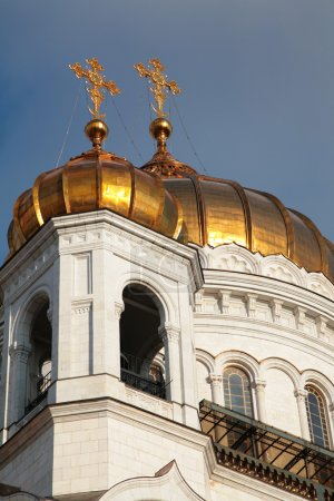 Fragment of temple of Christ of Savior in Moscow