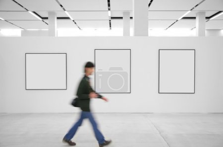 Photo for Going visitor at an exhibition - Royalty Free Image