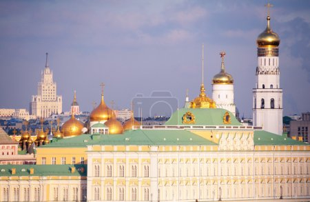 View on Big Kremlin palace and Ivan's belltower Great