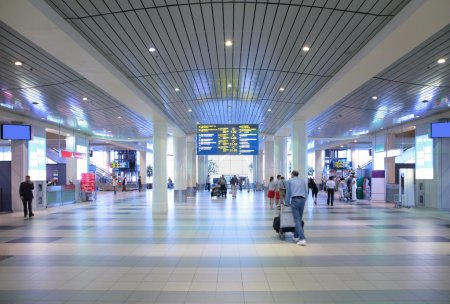 Hall of airport