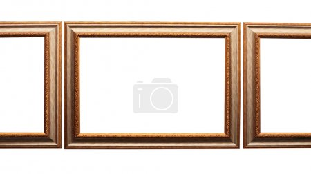 Frames for picture from baguette on white