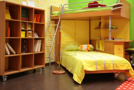 Photo for Children room with double bed - Royalty Free Image