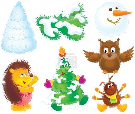 Set of Christmas clip-arts