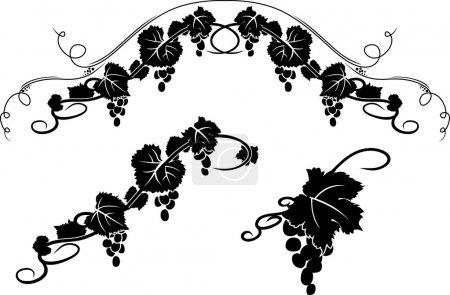 Grape decorative stencil