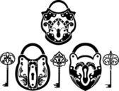 Vitage padlock and key set